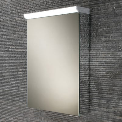HIB Spectrum Single Door LED Mirror Cabinet