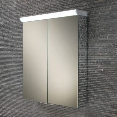 HIB Flare Double Door LED Mirror Cabinet