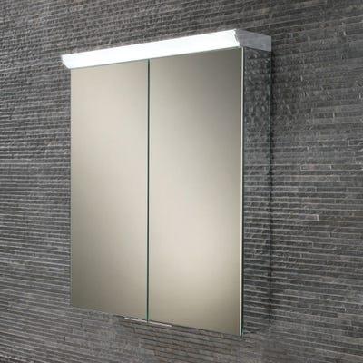 HIB Flare Double Door LED Mirror Cabinet