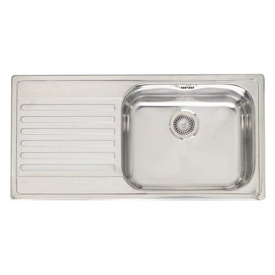 Reginox Minister 10 Large Single Bowl Inset Stainless Steel Sink