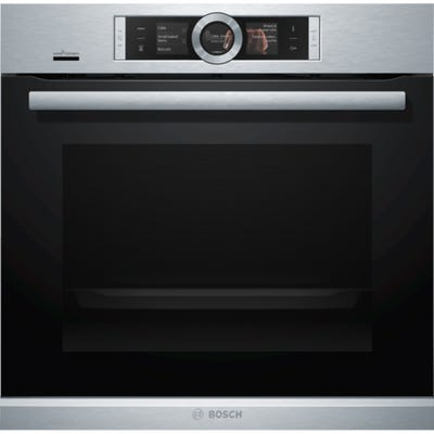 Bosch HBG6764S6B Serie 8 Single Pyrolytic Oven Brushed Steel