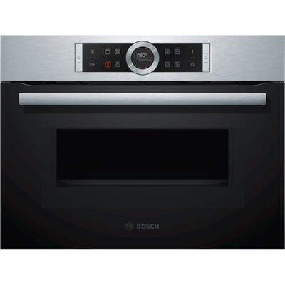 Bosch CMG633BS1B Serie 8 Compact Oven & Microwave 14 Functions