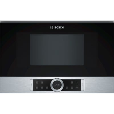 Bosch BFL634GS1B Serie 8 900W Built In Microwave 21L Brushed Steel