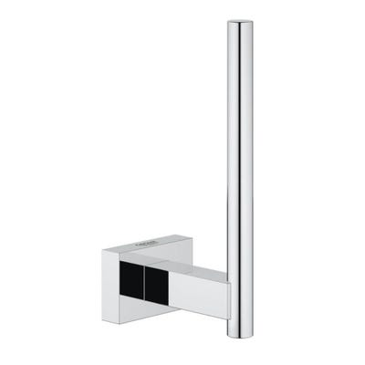 Grohe Essentials Cube Spare Toilet Roll Holder Chrome