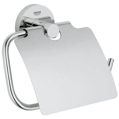 Grohe Essentials Toilet Roll Holder & Cover Chrome