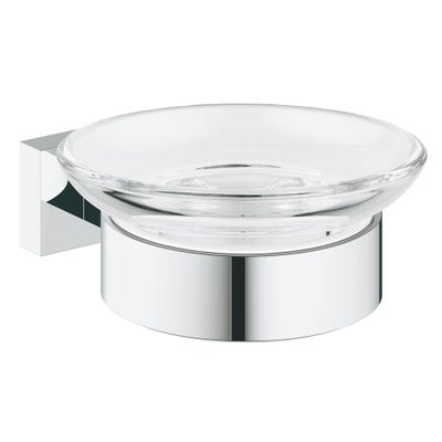 Grohe Essentials Cube Glass Soap Dish & Holder Chrome