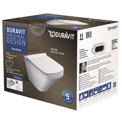 Duravit Durastyle Wall Mounted Rimless Pan and Toilet Seat