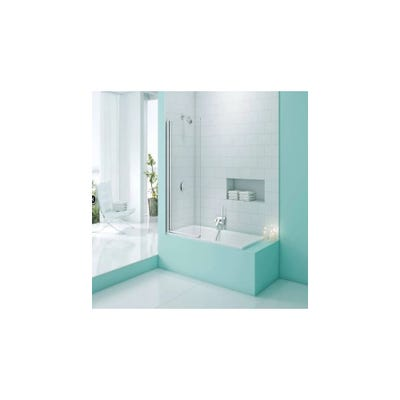 Merlyn Secureseal 800mm x 1500mm Single Panel Bath Screen