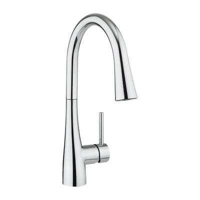 Crosswater Cucina Cook Side Lever Kitchen Tap & Concealed Spray Head Chrome
