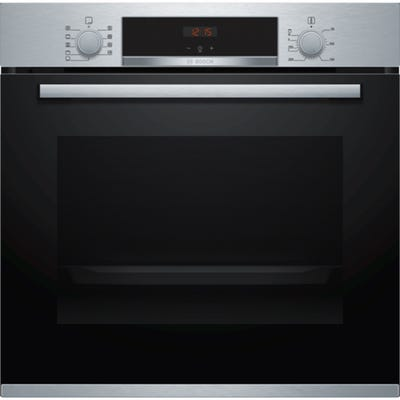 Bosch HBS534BS0B Serie 4 60cm 3D Hotair Single Oven 4 Function