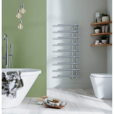 Towelrads Mayfair Chrome Straight Towel Radiator 795mm x 500mm