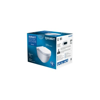 Duravit Starck 3 Wall Hung Toilet Concealed Fixings Box Set Inc Seat