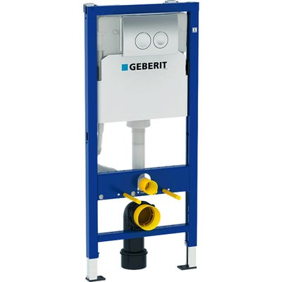 Geberit Duofix 1120mm Wall Hung WC Frame with Delta Cistern and Delta 21 Flush Plate