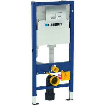 Geberit Duofix 1120mm Wall Hung WC Frame with Delta Cistern and Delta 50 Flush Plate