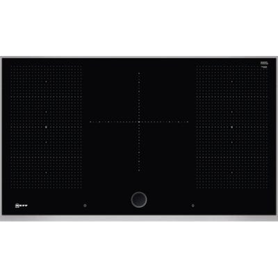 Neff T59TS5RN0 N90 90cm Flex Induction Hob Black & Stainless Steel