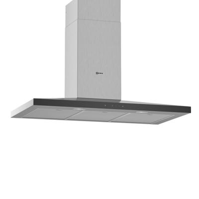 Neff D94QFM1N0B N50 90cm Slim Pyramid Chimney Hood Stainless Steel