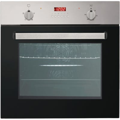 Culina 60cm Built In Electric Oven With Digital Timer Stainless Steel