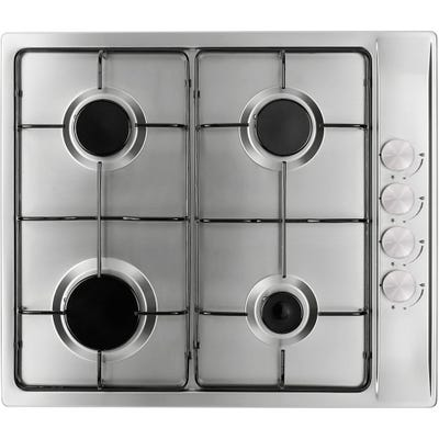 Culina 60cm 4 Burner Gas Hob Stainless Steel