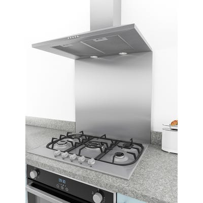 Culina 600 x 750 x 10mm Square Stainless Steel Splashback