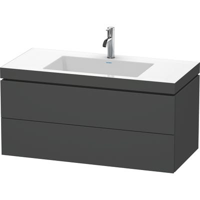Duravit Vero Air 1000mm Unit & Basin Graphite Matt