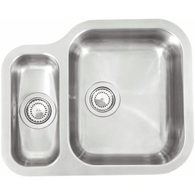Reginox Alaska 1.5 Bowl R Undermount Sink Polished Inox