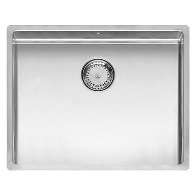 Reginox New York 50 x 40 L Inset or Undermount Sink Matt Inox