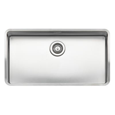 Reginox Ohio 80 x 42 L Inset or Undermount Sink Matt Inox