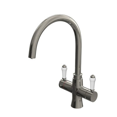 Reginox Amanzi Vechi Traditional 3 In 1 Boilng Hot Water Tap Chrome