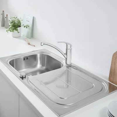 Grohe Eurosmart Stainless Steel Kitchen Sink & Tap Bundle