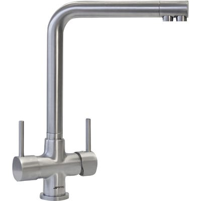 Smeg Amalfi 3-In-1 Filtered Water Kitchen Tap Brushed Stainless Steel
