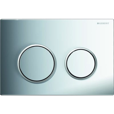 Geberit 115.240.KH.1 Kappa21 Dual Flush Plate Gloss Chrome Plated & Matt Chrome