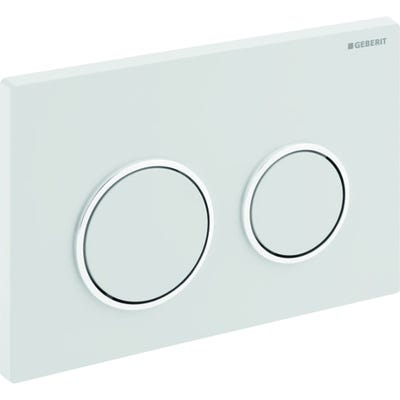 Geberit 115.240.KJ.1 Kappa21 Dual Flush Plate White & Gloss Chrome Plated