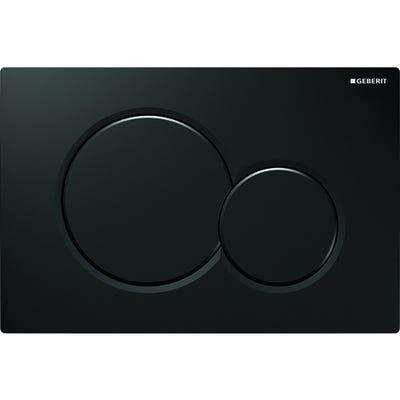 Geberit 115.770.DW.5 Sigma01 Dual Flush Plate Jet Black