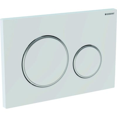 Geberit 115.882.KJ.1 Sigma20 Dual Flush Plate White & Gloss Chrome Plated