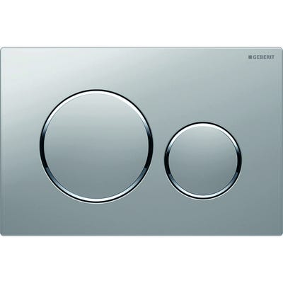Geberit 115.882.KN.1 Sigma20 Dual Flush Plate Matt Chrome Plated & Gloss Chrome