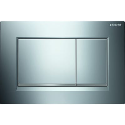 Geberit 115.883.KN.1 Sigma30 Dual Flush Plate Matt Chrome Plated & Gloss Chrome