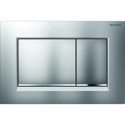 Geberit 115.883.JQ.1 Sigma30 Dual Flush Plate Matt Chrome & Gloss Chrome