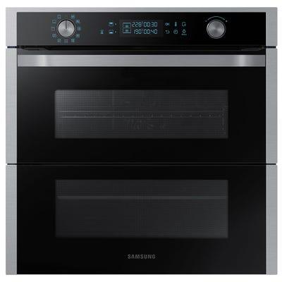 Samsung NV75N7677RS/EU 60cm Dual Flex Single Pyrolytic Oven Steel & Black