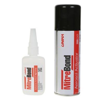 Unika Mitrebond Rapid Aerosol Activator & Adhesive 200ml