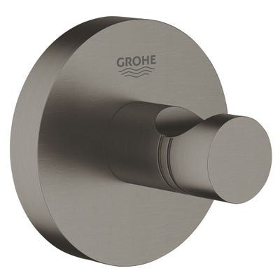 Grohe Essentials Robe Hook Brushed Hard Graphite