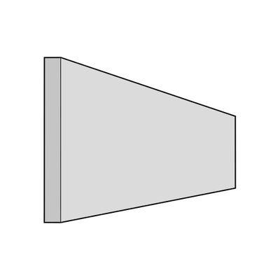 J-Pull Plinth 3050mm x 150mm x 18mm Gloss White
