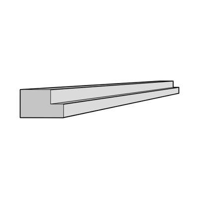 J-Pull Multi-Rail Cornice/Pelmet 3050mm x 36mm x 50mm Gloss White