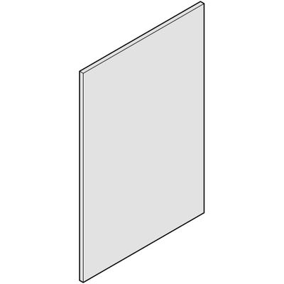 J-Pull End Support Panel 900mm x 650mm x 19mm Gloss White