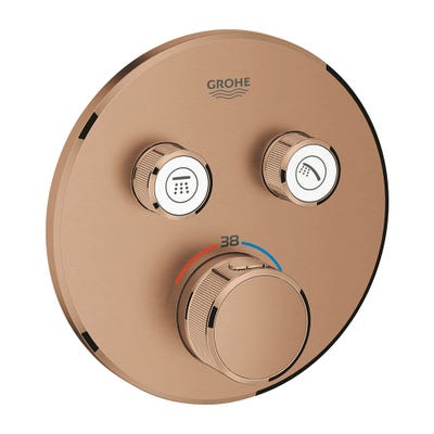Grohe Grohtherm SmartControl 2 Way Thermostat Brushed Warm Sunset