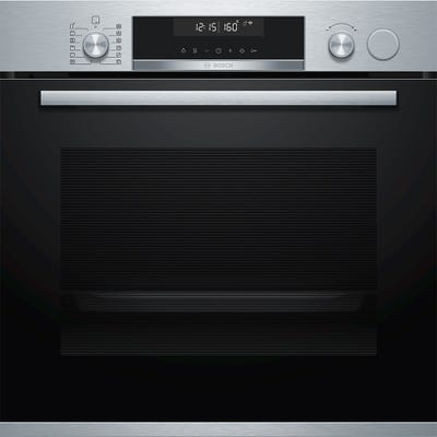 Bosch HRS578BS6B Serie 6 Single Pyrolytic Oven With Steam Function