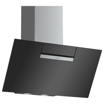 Bosch DWK87EM60B Serie 2 80cm Angled Glass Chimney Hood Black Glass