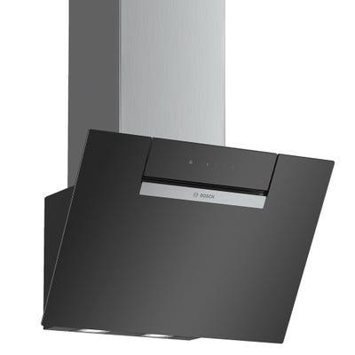 Bosch DWK67EM60B Serie 2 60cm Angled Glass Chimney Hood Black Glass