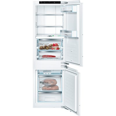 Bosch KIF86PFE0 Serie 8 No Frost Built In Fridge Freezer 70/30
