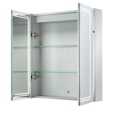 Sensio Harlow Double Door Illuminated Led Mirror Cabinet