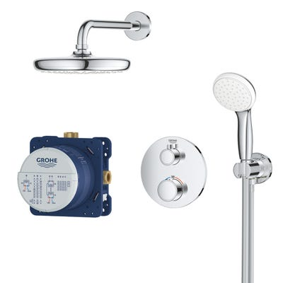 Grohe GrohthermPerfect Shower Set With Tempesta 210 - 34727000
